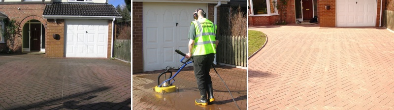 Drive and patio cleaning Shrewsbury - Hadnall - Preston Brockhurst - Myddle - Clive - Harmer Hill - Wem - Aston - Shawbury - Loppington - Baschurch - Grinshill - Astley - High Hatton